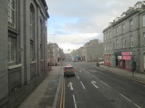 KING STREET_ONE OF THE ARTERIAL ROADS IN ABERDEEN