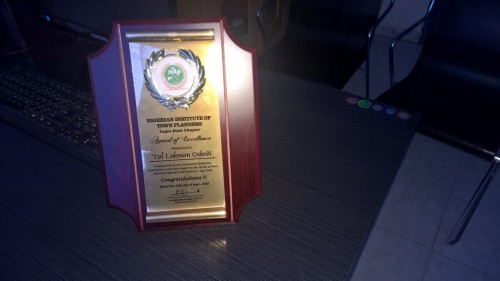 NITP AWARD OF EXCELLENCE TO LOOKMAN OSHODI_