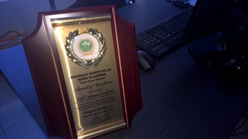 NITP AWARD OF EXCELLENCE TO LOOKMAN OSHODI